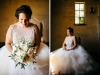 Bride with Gorgeous Garden Look Bouquet with Blush Roses, White O'hara Roses and Playa Blanca Roses