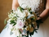 Bridal Bouquet Garden Look with Blush and Cream