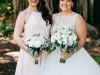 Bridesmaids' Bouquets of Playa Blanca Roses, Pink Mondial Garden Roses with Silver Dollar