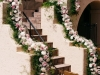 Garland of Bludh, Pink and Cream Flowers with Lots of Green Lining Staircase