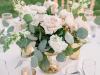 Centerp-gold-footed-bowl-wh-stock-quick-sand-lbush-spray-roses-lemon-leaf-silver-dollar