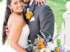 Bride with Garden-Look  Bouquet and Groom