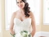 Bride with Garden Bridal Bouquet