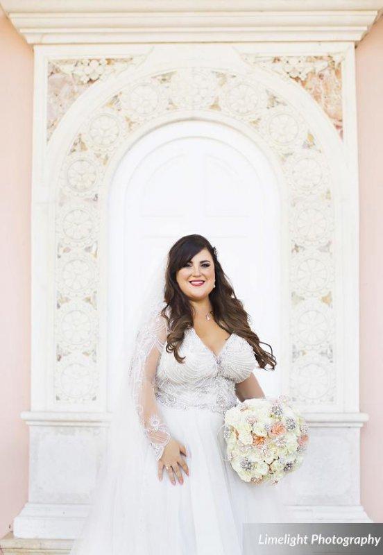 Bride in Ringling Courtyard