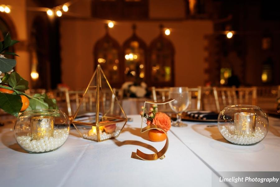 Different Decorative Elements on Feasting Tables