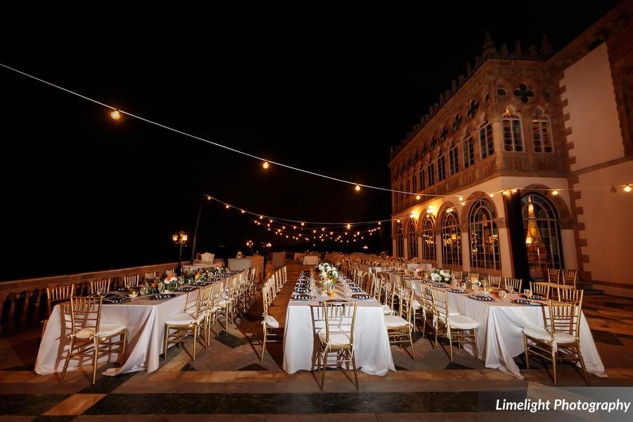 Feasting Tables for Guests on Ca' d'Zan Terrace