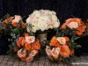 Bridal Bouquet and Bridesmaids' Tangerine Bouqets