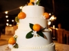 Wedding Cake with Cutie Oranges, Greens and Stephanotis