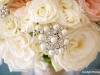 Close Up of Bride's Bouquet with Pearls