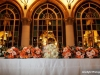 Feasting Table with Bridal and Bridesmaids Bouquets