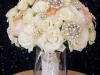 Bridal Bouquet of Roses with Lots of Beading and Pearls