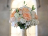 Bridal Bouquet with Tiffany Peach Roses