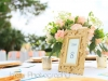 Table Centerpiece with Gold Place Card Colder
