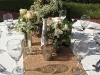 Burlap Bridal Runner with Vintage Bottles