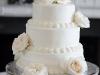Elegant White Cake with White O'Hara Roses