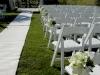 Wedding aisle Ritz Beach Club Sarasota