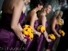 bridesmaids-bouquet-yellow-roses-purple-orchids
