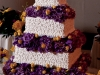 wedding-cake-with-purple-hydrangea-yellow-roses