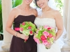 Powel Crosley Estate, bride and bridesmaid bouquet, hot pink and lime