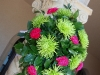 Powel Crosley Estate, hot pink and lime green wedding flowers