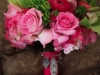 Powel Crosley Estate, stunning hot pink and lime green bridal bouquet