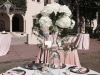 Elevated Table Centerpieces with Hydrangea and Greens
