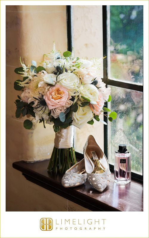 Garden Bridal Bouquet with Peach Shimmer Playa Blanca Roses