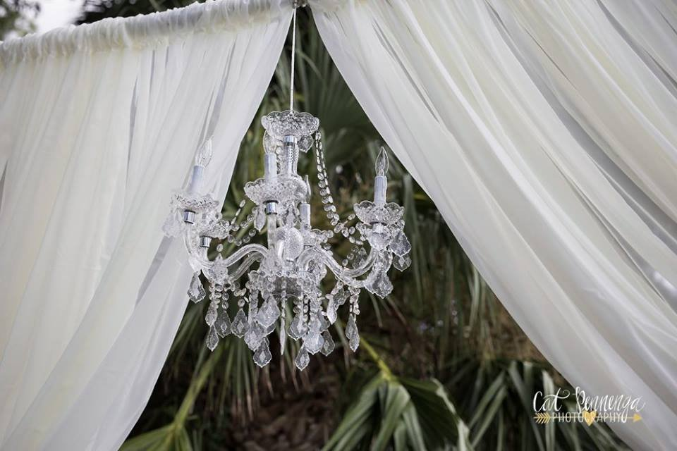 Chandelier from Ceremony Arch by Affairs in the Air
