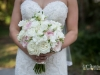 Bridal Bouquet of Plaza Blanca Pink O'hara Garden Roses with Freesia