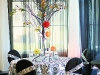 Black trees, art deco draping, Phillipi Estate Mansion