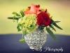 Bling votive red and coral centerpieces