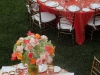 Ringling Museum Courtyard wedding in coral and green