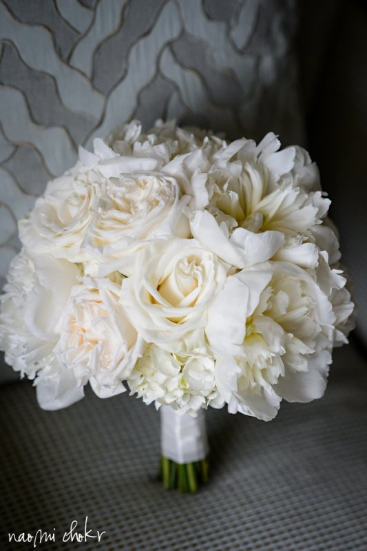 Bridal Bouquet with peonies, hydrangea, and roses, Ritz Carlton Destination Wedding Sarasota