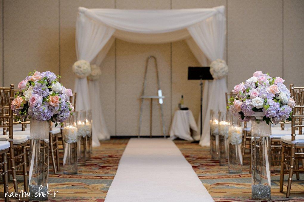 Pretty Chuppa, roses, Ritz Carlton Destination Wedding Sarasota