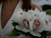 White cymbidium orhcid bouquet