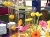Flower arrangement of oranges and gerbera daisies
