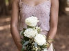 Bridesmaids with Simple Open Rose Bouquet
