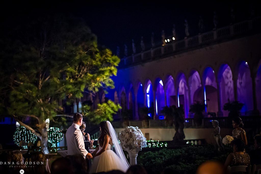 Wedding Ceremony at the Ringling Courtyard