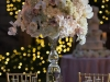 Elevated Centerpiece of Blush Roses, Hydrangea, Orchids