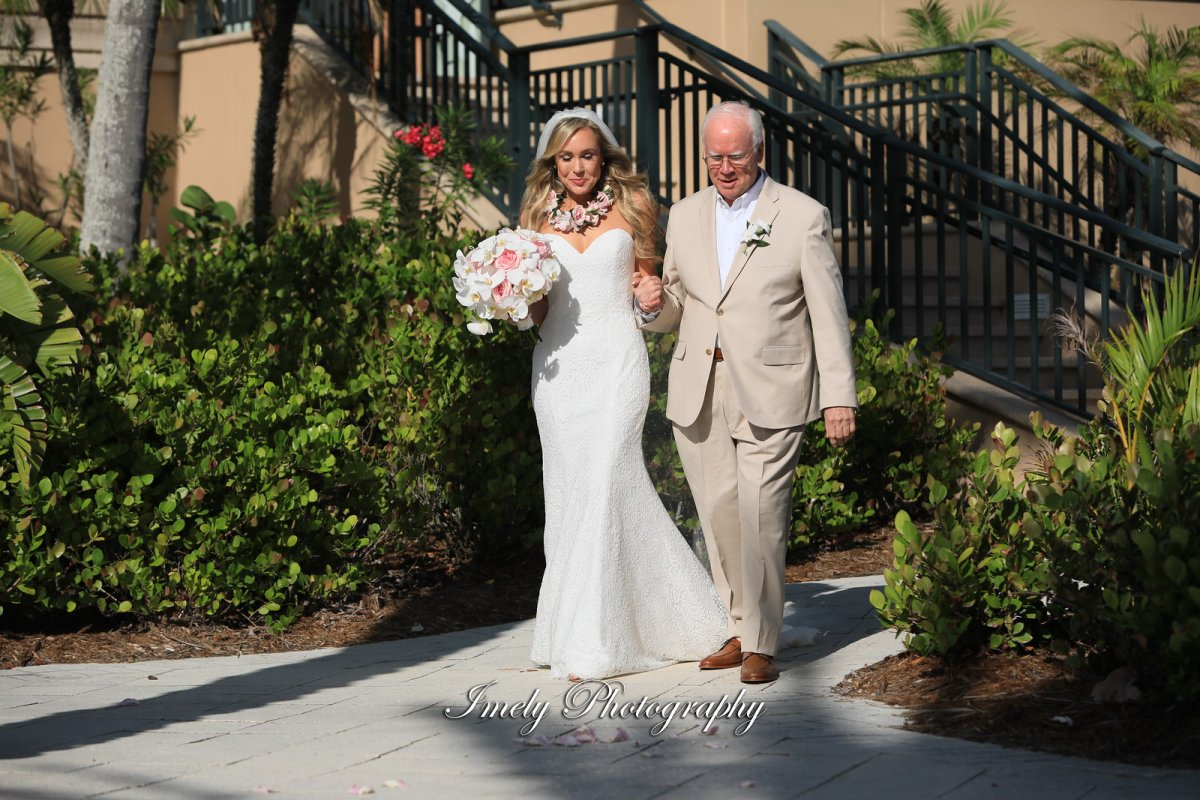 Bride with Father Walking Down the Aisle