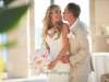 Bride and Groom with with Phalaenopsis Orchids