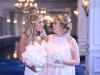 Bride and Mom with Bouquets in Blush and Pink