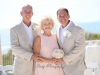 Groom with Mom and Dad with Boutonnieres and Bouquets