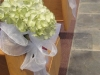hydrangea-on-pew-for wedding