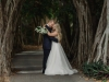 Bride with Calla Lily Bouquet and Trailing Greens