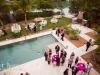 Backyard wedding on the water