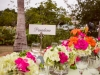 Colorful feasting tables