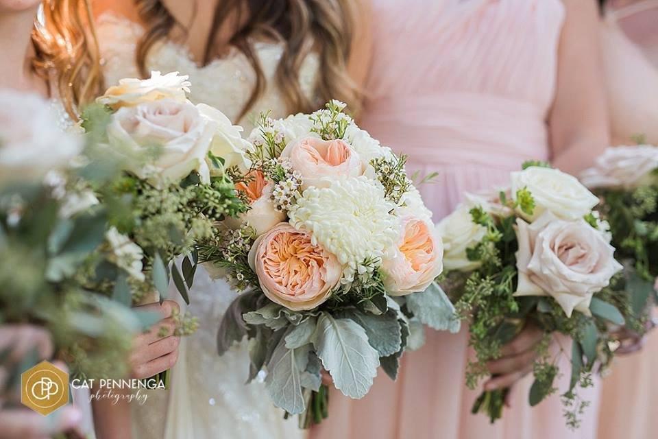 Bridal bouquet with Juliette Roses