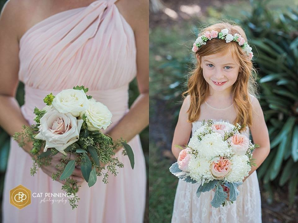 Bridesmaids and Flower Girl Bouquet