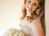 Bridal with All White Roses Bridal Bouquet